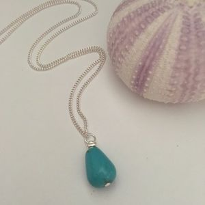 Jewelry - Turquoise Colored Pendant Necklace